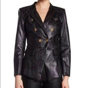 💜🖤💜TOV Vegan Crocodile Leather Jacket💜🖤💜